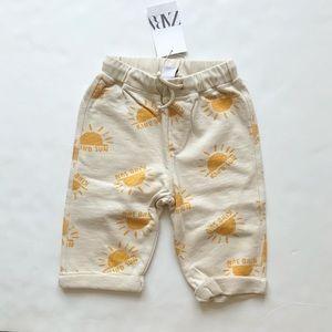 Zara NWT sun print sweatpants 4-5T
